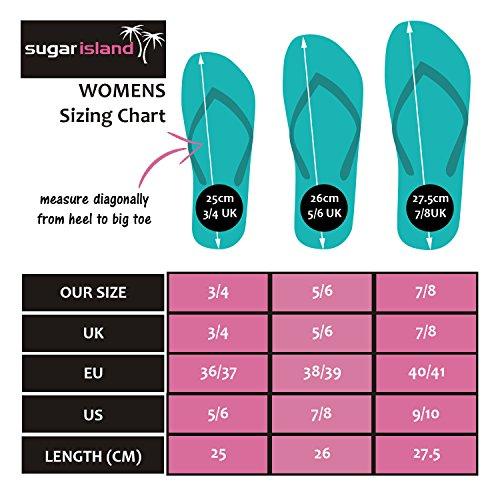 4f77f7afd SUGAR ISLAND Unisex Ladies Girls Mens Summer Beach Flip Flop Pool Shoes