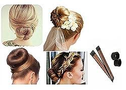Chronex Women (1 Pc) Girls Perfect Hair Bun Making Styling French Twist Donut Bun Hairstyle Tool