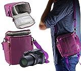 Navitech violet Caméscope / Caméra / sac à bandoulière / étui pourKodak Pixpro AZ901