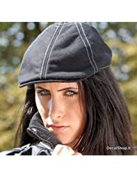 DONOVAN negro tg L/XL GATSBY Gorra para hombre mujer Vasco sombrero sombrero Impunturato Keyone