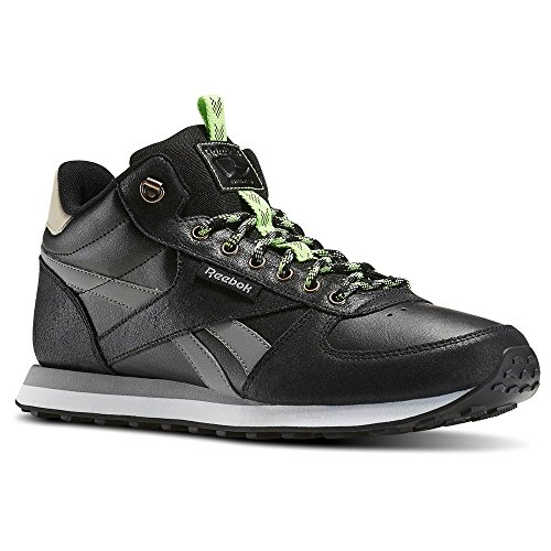 Reebok Royal Cl Jog Wld M, Chaussures de Sport Homme Noir - Negro (Black / Flat Grey / Stucco / Solar Green / White)