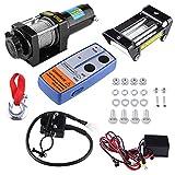 Verricello Elettrico 12 V 4000Lbs Verricello Argano Paranco elettrico con telecomando wireless per Rimorchio, Auto, Camion, Barca
