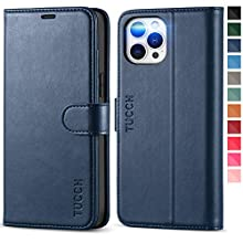 TUCCH iPhone 12 Pro Max Wallet Case, 12 Pro Max PU Leather Case[RFID Blocking Protection] Card Slot[TPU Shockproof] Viewing Stand, Magnetic Flip CoverCompatible with iPhone 12 Pro Max(6.7), Dark Blue