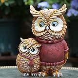Statuette da giardino Outdoor Simulazione Animal Owl Fox Impermeabile Da Giardino In Resina Statua Per Yard Prato Artigianato Decorazione Regalo Di Paesaggio - 17 * 11 * 24 Centimetri B-17*11*24cm