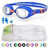 Best Swim Goggles - ZABERT K3 Kids Swimming Goggles Blue Orange Clear Review
