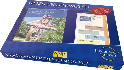 Verkehrserziehungs-Set. So ist mein Kind sicher im Straßenverkehr. Box mit Buch + 50 Übungskarten