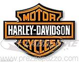 ADESIVI in RESINA 3D STEMMA LOGO per SERBATOIO MOTO HARLEY DAVIDSON CUSTOM 95x70