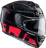 Hjc R-pha St Balmer Mc-1 Motorradhelm , Farbe schwarz-rot, Größe XXL (63/64)