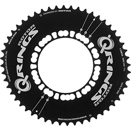 rotor Q-Ring Road Aero Kettenblatt 110mm 5-Arm außen schwarz Ausführung 53 Zähne 2018 Kettenblätter