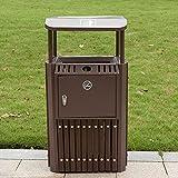 LXY dustbins 45 * 45 * 90cm Pattumiera Esterna dell'Acciaio Inossidabile, Pattumiera Resistente alla Ruggine E Durevole Bidone Spazzatura, Bidone Immondizia Adatta A Parco della Comunità A