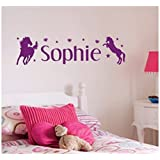 Personalised Horse Wall Sticker, Any Name, Any Colour, Childs Bedroom.