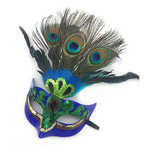 XAOBNIU Maskerade-Feder-Masken-weibliches Geburtstags-Party-halbe Gesichts-Halloween-Kind-Maske