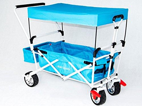 Starkwerk faltbarer Bollerwagen Handwagen Transportkarre Strandwagen Blau