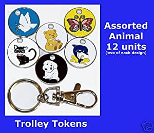 12 units Assorted Animal trolley Tokens
