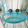 GZQ Bird Bath with Mirror Toy,Caged Bird Bath,Parrot Bath Box,Bird Bath Covered for Greys,Cockatiels,Parakeet,Brids Canary Budgies Parrot from GZQ