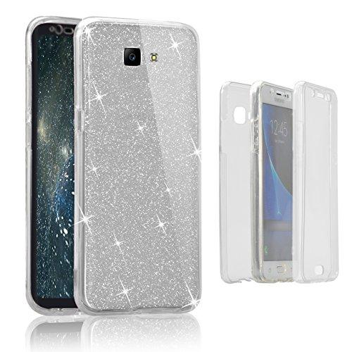 Custodia Samsung Galaxy J5 Prime G5700 Cover Case , Vandot [360 gradi] 3 in 1 Protezione Completa Glitter Sparkle Bling Bling Trasparente Custodia per Samsung Galaxy J5 Prime G5700 Cover Case Caso Gom 360 Clear