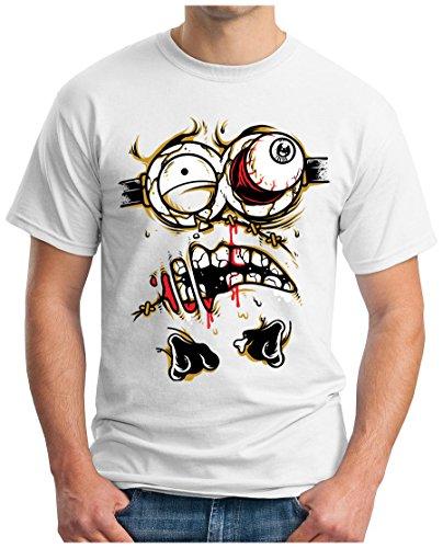 OM3 - ZOMBIE-JOKER - T-Shirt HORROR DEMON EVIL CLOWN PINGUIN Mr. FREEZE EMO SWAG, S - 5XL Weiß