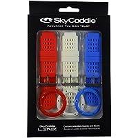 SkyCaddie Confezione da tre fasce e cornici per Linx–Orologio GPS, personalizzabili, cacciavite incluso, Red/White/Blue, Taglia unica