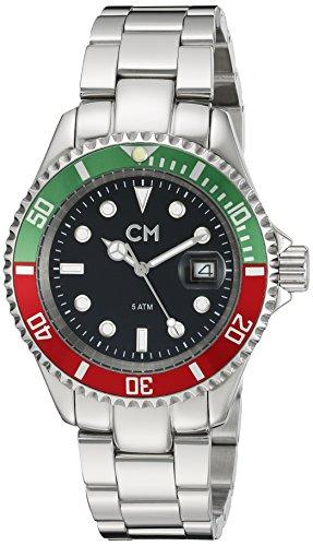 Carlo Monti CM507-121B - Reloj analógico de cuarzo para hombre con correa de acero inoxidable, color plateado