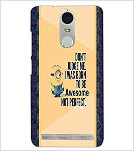 PrintDhaba Quote D-4749 Back Case Cover for LENOVO K5 NOTE (Multi-Coloured)