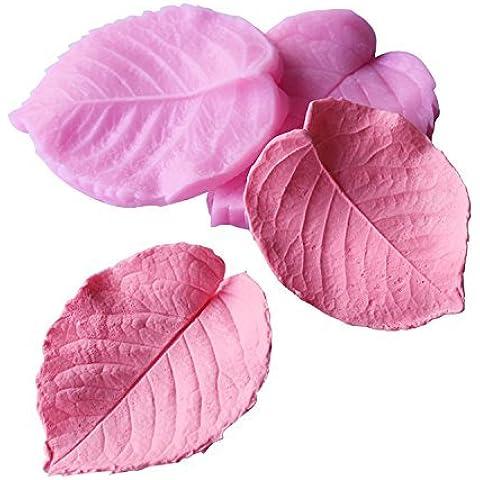 [Ever giardino fronte-retro muffa / argilla resina / resina stampo di formatura foglie realistici foglia di silicio / mano sapone / silicio / die-cut tipo di utensile / kit