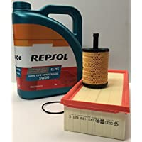 Pack Repsol elite LONG LIFE 5W30 507.00 504.00, 5 litros + filtro aceite y Aire