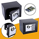 6.4L Safe Tresor Elektronisch Minitresor mit digitalem Zahlenschloss mit 4x Batterien