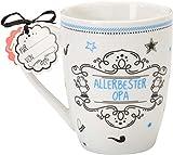 Sheepworld 59265 Lieblingstasse Allerbester Opa, Porzellan-Tasse, mit Geschenk-Anhänger