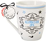 Sheepworld 59265 Lieblingstasse 'Allerbester Opa', Porzellan, mit Geschenkanhänger