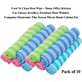 Livzing Microfiber Cleaning Towels All Purpose Duster Cloth Hand Napkin Multicolor Table Wipe–10 Pcs