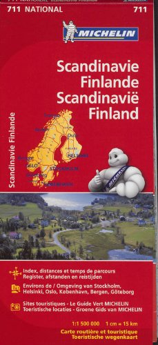 SCANDINAVIE FINLANDE FINLAND 11711 CARTE ' NATIONAL ' MICHELIN KAART