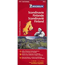 SCANDINAVIE FINLANDE FINLAND 11711 CARTE ' NATIONAL ' MICHELIN KAART
