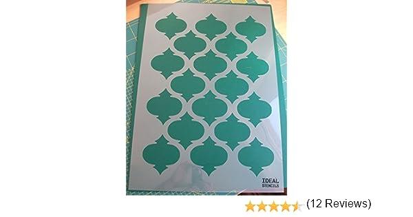 XL//A1//see image for info Pochoir de motif quadrilobe marocain pour artisanat ou d/écoration murale de maison Plastique Ideal Stencils Ltd