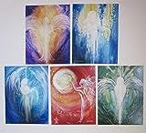 silwi-art***** Erzengel Set - 5 Engelbilder/Wanddekoration, Wandbilder, Kunstfotos, Metatron, Michael, Raphael, Uriel, Gabriel -