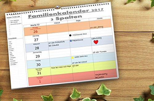 2018 Deutschland A4 quer-Format 53 Wochen 3 bis 7 Spalten, Feiertage mit WUNSCHNAMENSEINTRÄGEN Ringbindung (Baby-geburtstag-planer)