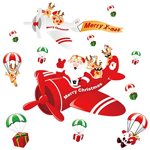 Creative Christmas Static Cling Sticker Paste PVC Decoractive Removable HYC-51 multicolor