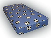 3ft single budget mattress blue football material 90cm x 190cm, 3ft x 6ft3, single mattress with fast delivery