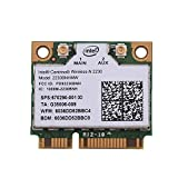 Richer-R Intel N2230 WIFI Karte, 300 Mps 2 in 1 Bluetooth WIFI Wireless PCI-E Karte,802.11 A/B/G/N WLAN Adapter,für Intel 945/965/GM45/PM45,Geeignet für Desktop-Computer/Laptops/AIO