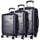 Kono Designer Light Weight Hardshell 4 spinner wheels Travel Trolley Suitcase Luggage 3