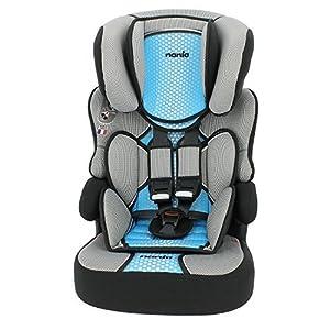 Nania Beline Group 1/2/3 Highback Booster Car Seat, Blue   12