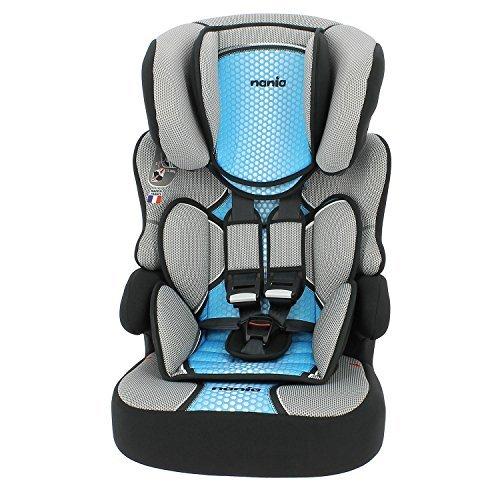Kindersitz, 9bis 36kg, hergestellt in Frankreich, 3Sterne bei TCS-Test, 4Farben, seitlicher Schutz, gepolsterte und höhenverstellbare Kopfstütze