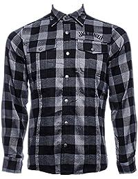 JACK DANIELS Karohemd Hemd checker kariert Holzfällerhemd mit Logo S M L XL XXL XXXL