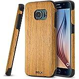 BELK Case Samsung Galaxy S7 Edge- Case [Air à battre] Slip en bois Appuyez sur [Delgado Maté] caoutchouc Grip pare-chocs [ultra léger] souple TPU Soft Shell bois de première qualité Housse pour Samsung Galaxy S7 Edge-chêne
