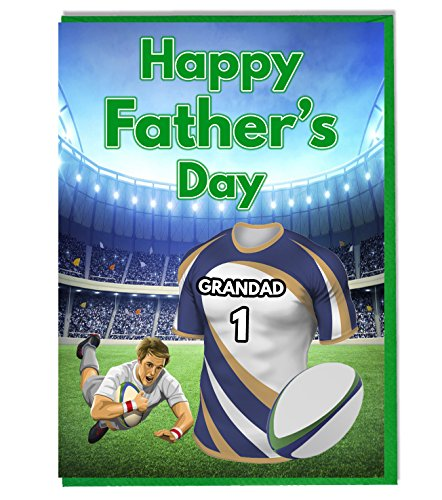 Vatertag-Karte-Die Rugby, mit brumbies. Grandad