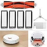 QHJ für Xiaomi Saugroboter mit Wischfunktion | automatischer Staubsauger Roboter | für Hartböden | Fallschutz | beutellos | mit Ladestation | Teppiche,Fliesen,Laminat| Tierhaare (AS Zeigen)