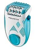 Rowenta Skin Spirit EP2910F0 - Depiladora de 2 velocidades con sistema anti dolor de 24 pinzas, cepillo limpiador, accesorio para zonas sensibles y bolsita de viaje