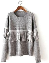 Ladies Fashion cuello redondo Jersey de punto