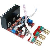 Zerone Altavoz Circuit Board, 2.1 Mini Amplificador Digital Junta 3 Canales Altavoz DIY Audio Estéreo Subwoofer Amplificador Módulo TDA2030A