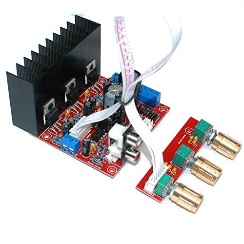 Zerone Altavoz Circuit Board, 2.1 Mini Amplificador Digital Junta 3 Canales Altavoz...