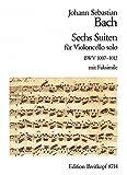 6 Suiten BWV 1007-1012 für Cello - Breitkopf Urtext (EB 8714)